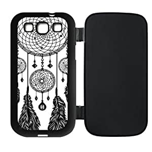 Black and White Dream Catcher Protective Rubber Flip Cover Case for SamSung Galaxy S3 Kimberly Kurzendoerfer