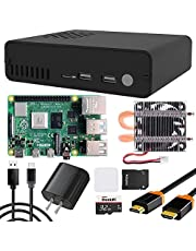 GeeekPi Raspberry Pi 4 (8GB) DeskPi Pro V2 Set-Top Box Kit- SSD Support, Full Size HDMI, Safe Power/Reset, Ice Tower Cooler, Power Supply, HDMI Cable,32GB SD Card