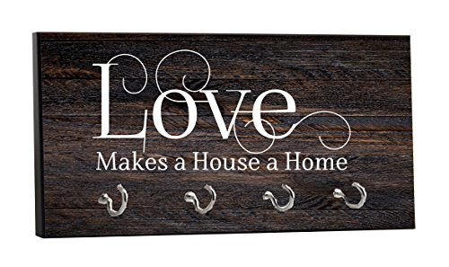 Love Makes a House a Home - on Wood Print - 5