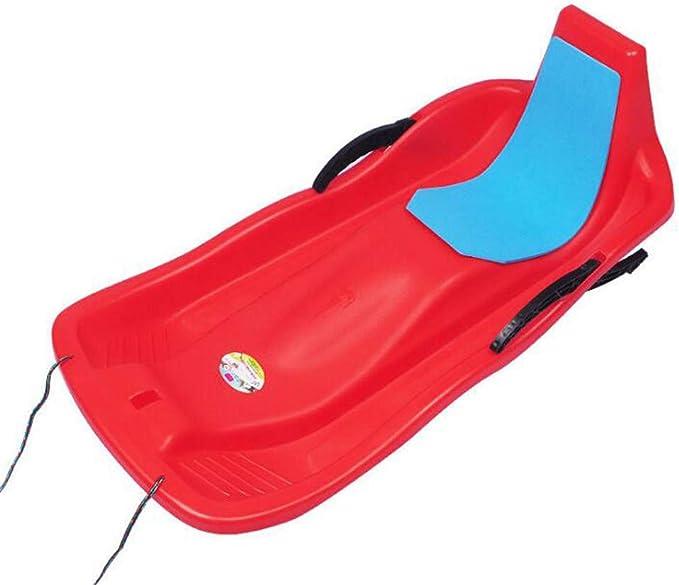 UNHU Schlitten f/ür Kinder Erwachsene Outdoor Kunststoff Schneeflitzer zum Rodeln Schneerutscher Wasserskiboard Snowboard Gras Sand Schnee Board Spielzeug 50x36cm
