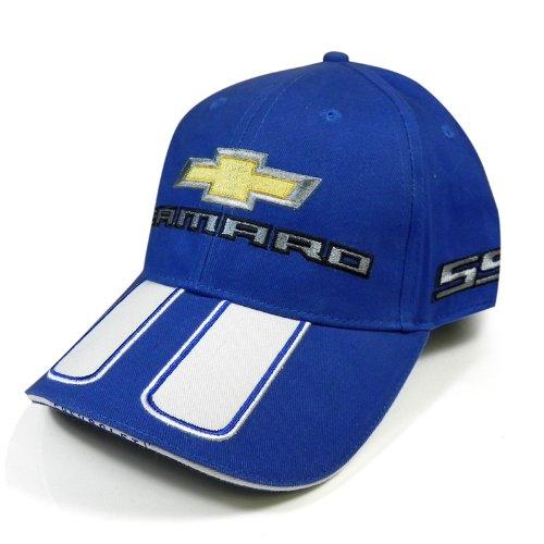 Chevrolet Camaro Rally Stripe Blue Baseball Cap
