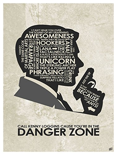 "Sterling Archer ""Danger Zone"" Word Art Print Poster  by Arti"