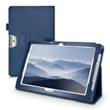 kwmobile Elegant synthetic leather case for Acer Iconia One 10 (B3-A30) in dark blue with convenient STAND FEATURE