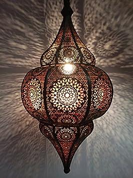 Lampe de table de chevet marocaine Kais Doré 38cm | Abat jour marocain oriental en métal | petite lampadaire sur pied orientale du Maroc comme