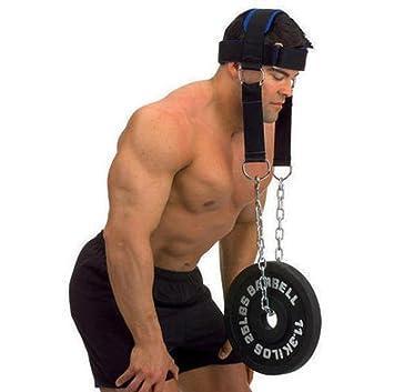 workouty acolchado arnés de cabeza con cadena Crossfit peso levantamiento correas de cabeza cinturón mancuernas pesas gimnasio cuerpo edificio equipo: ...