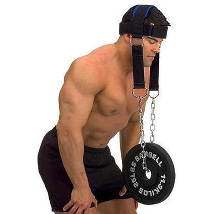 workouty acolchado arnés de cabeza con cadena Crossfit peso levantamiento correas de cabeza cinturón mancuernas pesas