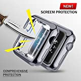 UBOLE Case for Apple Watch, UBOLE iWatch Screen Protector Soft Plated TPU All-around Ultra-thin Cover for Apple Watch Series 1, Series 2, Series 3, Nike+, Edition (gray, 42mm)