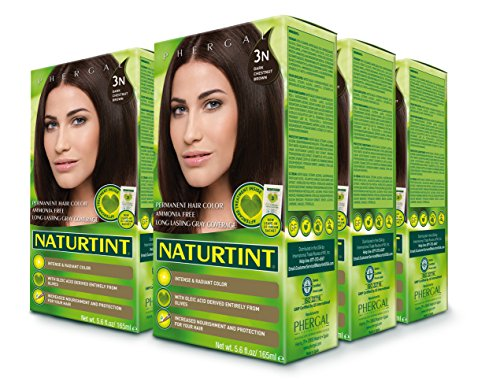 Permanent Colorant Hair (Naturtint Permanent Hair Color - 3N Dark Chestnut Brown, 5.28 fl oz (6-pack))