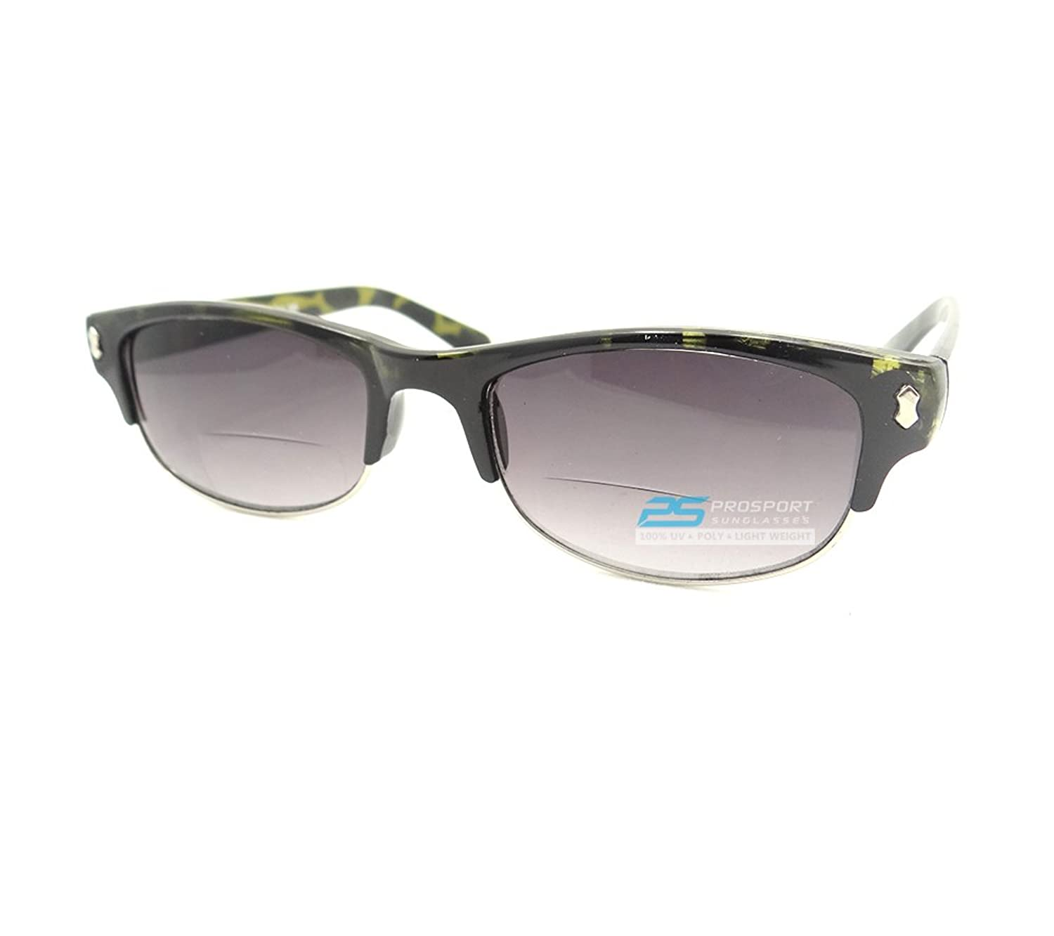 78d2f6dbff 70%OFF Wayfarer Retro Rectangle Half Rim Bifocal Tinted Glasses ...