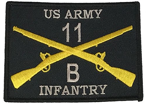 Us Army Retired Patch (US ARMY 11B INFANTRYMAN INFANTRY PATCH - Silver, Royal Blue & Gold on Black Background - Veteran Owned Business)