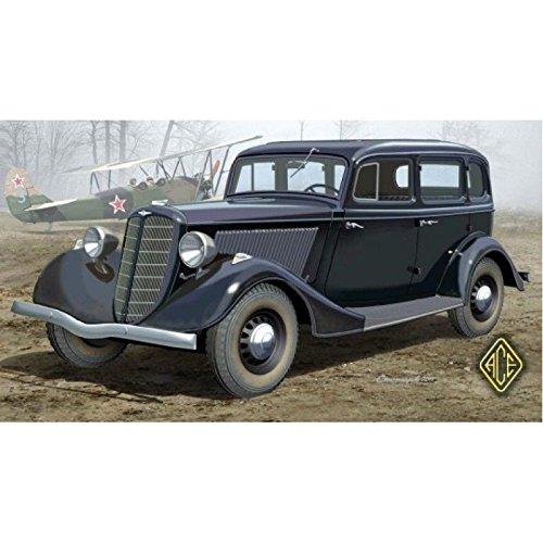 V8 Motors Ford (Plastic model GAZ-M1 EMKA SOVIET WWII STAFF CAR 1/48 ACE 48104)