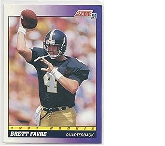 Amazon Football NFL 1991 Score 611 Brett Favre EX NM RC
