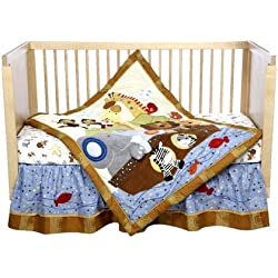 Lambs & Ivy S.S. Noah Unisex 5 Piece Bedding Set