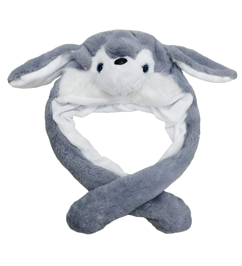 Women Girls Funny Plush Animal Ear Hat Toy Birthday Gift With Moving Ears Pressing the Animal Cap Will Make the Ears Move Girls Boys Kids Women Cosplay