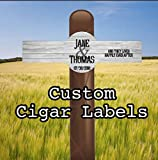 Set of 16 Personalized Cigar Labels - Wedding - Wood - Rustic - Simple - Country - Party Favors - Gift - Cigar band - Happily Ever After