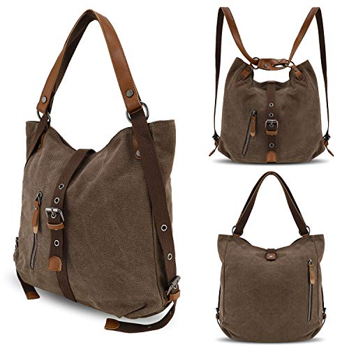 Bag Shoulder Women Ladies Canvas Casual Handbags Fashion Backpack Backpack YANGYANJING Purse Coffee Multifunctional qwTEB5EO