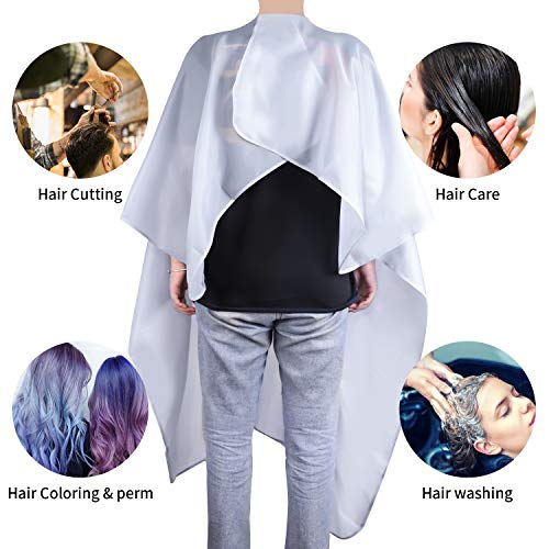 Easy4U Professional Barber Cape for Men & Women, Waterproof Haircut Cape for Hair Stylist Haircut Apron, 50\