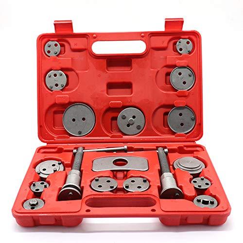 PinShang 18pcs/Set Auto Universal Disc Brake Caliper Car Wind Back Pad Piston Compressor Automobile Garage Repair Tool Kit