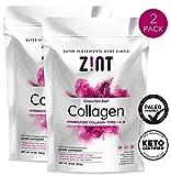 Zint Collagen Peptides Powder (20 oz Bundle, 2 x 10 oz): Paleo-Friendly, Keto-Certified, Premium Hydrolyzed Collagen Protein Supplement - Unflavored, Grass Fed, Non GMO