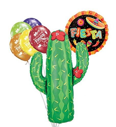7 pc Cactus Fiesta! Cinco De Mayo Latex Balloon Party Decoration Fiesta May 5th
