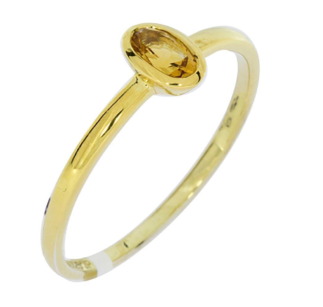 14k Yellow Gold Genuine Citrine Ring
