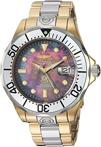 Invicta Men's 'Pro Diver' Automatic Stainless Steel Diving Watch, Color:Two Tone (Model: (Invicta Grand Diver Chronograph)