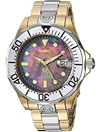 Men's 'Pro Diver' Automatic Stainless Steel Diving Watch, Color:Two Tone (Model: 16034)