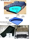 California King Free Flow Waterbed Mattress with Zipper Mattress Cover, Heater & Stand Up Liner