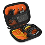 Sports Wireless Bluetooth Headset Carrying Case, Fit Jabra, Sony, Powerbeats, JayBird, iSport / Sweat Proof Workout Earbuds Carrying Case with Space for Cable, Charger, Parts and Accessories (Black)