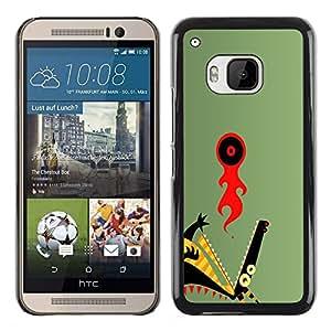 KLONGSHOP // Cubierta de piel con cierre a presión Shell trasero duro de goma Protección Caso - Resumen del dragón - HTC One M9 //