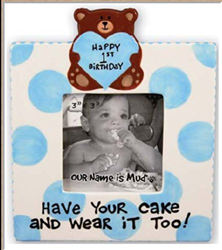 Our Name Is Mud Baby Boy Happy 1st Birthday Frame