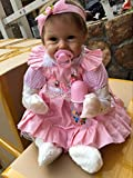 iCradle 18 Inch 45cm Simulation Soft Silicone Vinyl Lifelike Reborn Doll Baby Girl Realistic Looking Newborn Dolls Similar Real Baby Xmas Gift