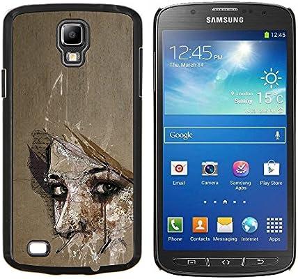Snap-on Series Teléfono Carcasa Funda Case Caso para SAMSUNG i9295 Galaxy S4 Active / i537 (NOT S4) , (Profundo Significado Mujer Maravilla aspecto Ojos) : Amazon.es: Electrónica