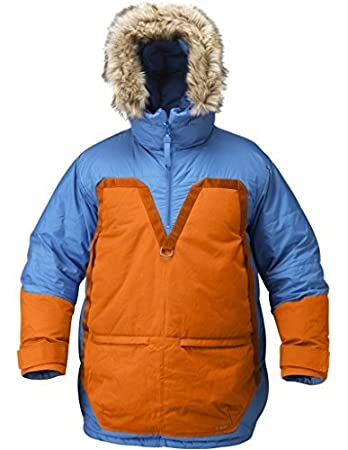 Fjallraven Men's Polar Parka Jacket, Un Blue, Burnt Orange, 2XL at ...