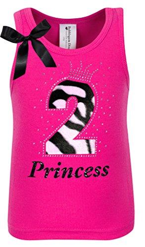 Bubblegum Divas Baby Girls 2nd Birthday Pink Zebra Print Animal Shirt 3