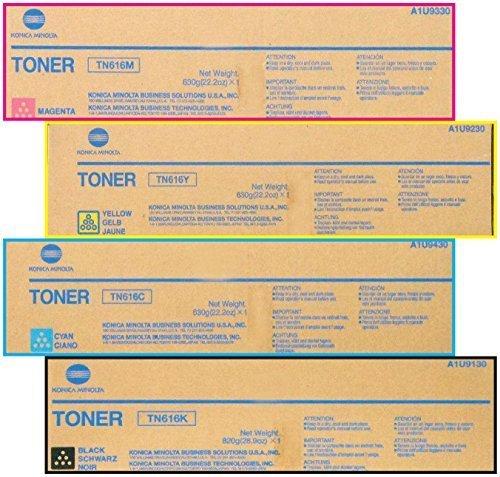 Konica Minolta Part# TN-616K. TN-616C. TN-616M. TN-616Y Toner Cartridge Set (OEM) by Konica-Minolta