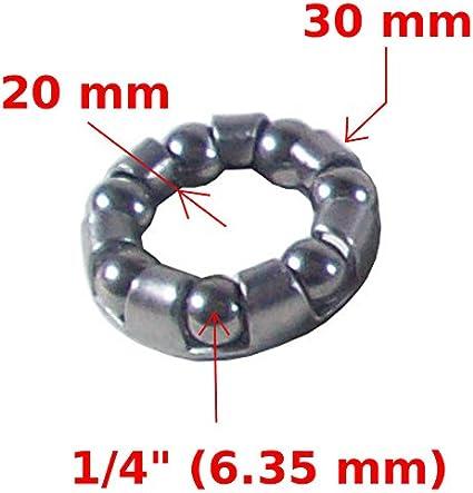 """35 billes diamètre 6,35 mm 1//4/"""" en acier chromé pour vélo  boîtier de pédalier"""