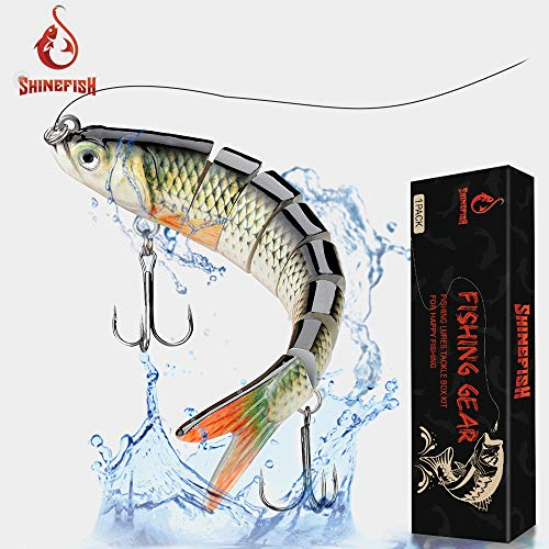 SHINEFISH Fishing Lures Multi Jointed Swim baits Slow Sinking bassLures The New Upgrade Luya Fishing Lures Gear (C)