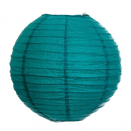 Koyal-14-Inch-Paper-Lantern-Peacock-Blue-Set-of-12