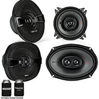 Kicker for Dodge Ram 1994-2011 speaker bundle - 2017 Model KS 6x9 coaxial speakers, and KS 5.25 coaxial speakers.