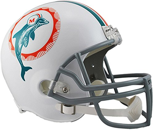 Football Nfl Helmet Throwback (Sports Memorabilia Riddell Miami Dolphins VSR4 Throwback 1972 Full-Size Replica Football Helmet - NFL Replica Helmets)