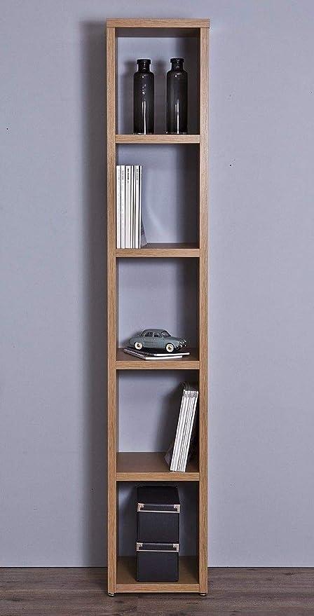 Top Kit | Estanteria Florencia 6501 | Medidas 36,5 x 208 x 33,5 cm | Estantería Libros | Estantería Decorativa | Roble