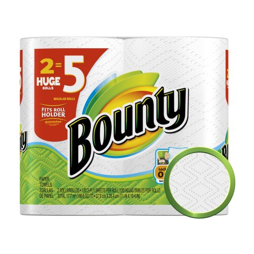 price associated with bounty papers towels
