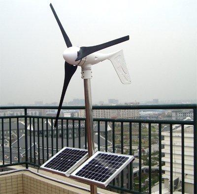 GOWE Grid tie 500W solar wind hybrid system, 400W wind turbine+100W