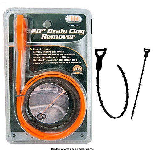 """Drain Snake Clog Remover 20"""" Sink Slow Fixe Hair Clear Tool Removal Cleaner"""