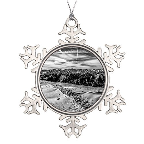 Metal Ornaments Tree Branch Decoration Kitzbuhel Mountain Making Christmas Tree Decorations ()