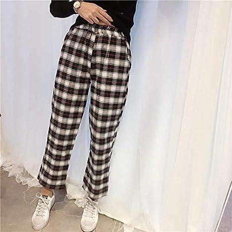 Dalianhuan Pantalones Japoneses De Moda Pantalones Harajuku De Verano Para Mujer Pantalones A Cuadros Mori Con Estampado Fresco Pantalones Harem De Moda Pantalones Casuales De Hip Hop Para Mujer 4 S Amazon Com Mx Hogar Y