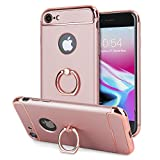 Apple iPhone 8/7 Ring Case - Olixar X Ring - Finger Loop - Rotating Kickstand and Media Viewing Stand - Compatible With iPhone 8/7 - Wireless charging compatible - Rose Gold