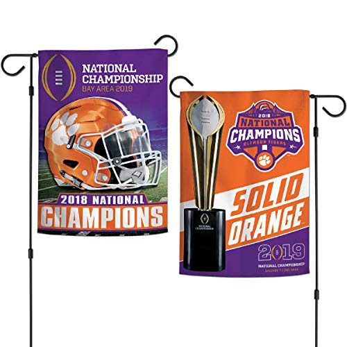 Wincraft Clemson College Football 2018 National Champions Double Sided Garden Banner