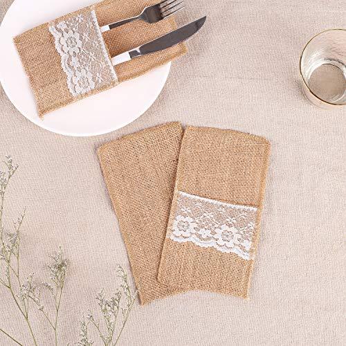 Amazon.com: Laoban - 50 soportes de utensilios de arpillera ...